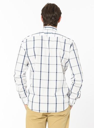 Daffari Kareli Uzun Kollu Gömlek Beyaz